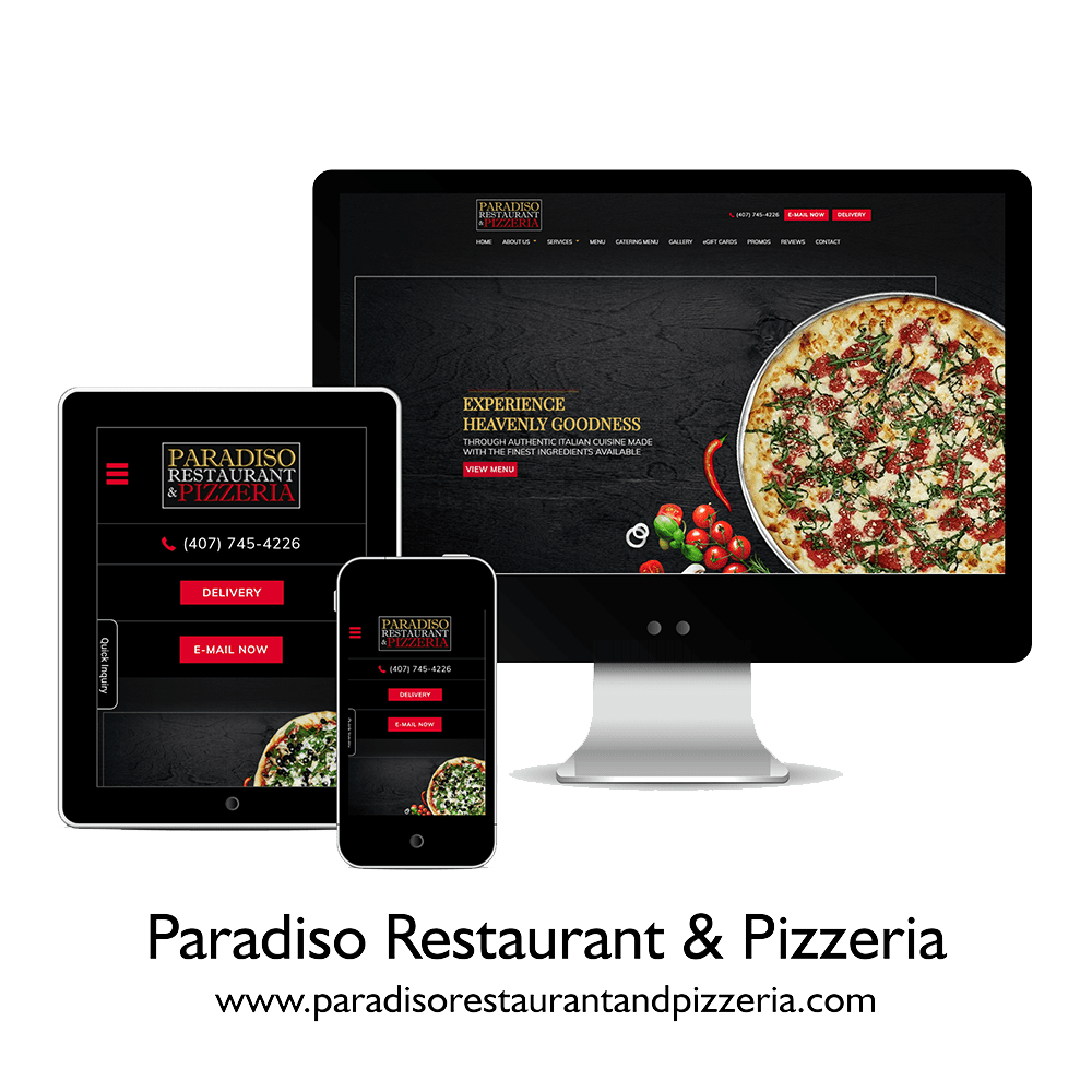 Paradiso Restaurant and Pizzeria | Tulumi Digital Marketing